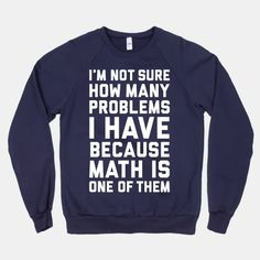 Math is NOT my strong suit....