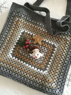 Crochet Purse Patterns, Crochet Clutch, Granny Square Crochet Pattern, Crochet Handbags, Crochet Purses, Crochet Cross, Crochet Chart, Love Crochet, Diy Crochet
