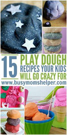 15 Homemade PlayDough Recipes