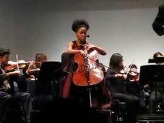 Young cellist Sujari Britt.