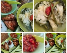 Djagan bening gebakken kippe vleugels en sambal trasie oelek