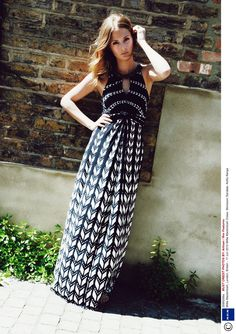 Millie works effortless summer style in our Freida Maxi dress, £79.