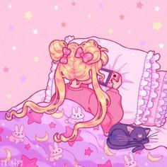 Sailor Moon Usagi, Sailor Moon Art, Sailor Mars, Sailor Moon Aesthetic, Aesthetic Anime, Cute Anime Wallpaper, Cartoon Wallpaper, Kawaii Drawings, Cute Drawings