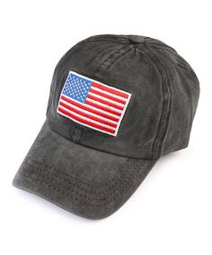 59f90cec65f This Black Stars  amp  Stripes Baseball Cap is perfect!  zulilyfinds Black  Star