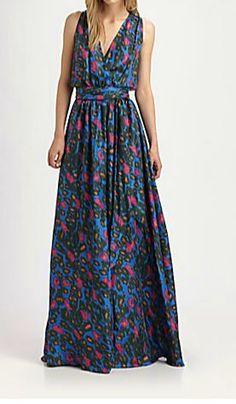$495 Rachel Zoe RARE Julianna Silk Cheetah Print Gown 2 XS   eBay