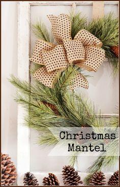 CHRISTMAS MANTEL organic, chippy and full of Christmas cheer stonegableblog.com