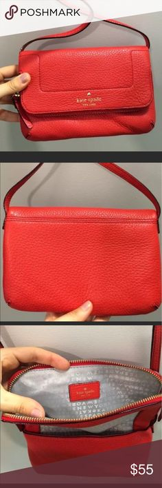 Red Kate Spade purse. Brand New with dust bag! Color is persimmon red. Brand new. Comes with dust bag. Kate Spade Bags