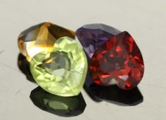 1.15 cts Parcel of 4 Heart Shape Mixed Gemstone (RM011)
