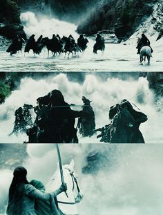 """The Nazgul version of Beach Boy's """"Surfing Safari"""": """"We're not surfing now, Elf' s a-swarming us now, all this for a magic ring..."""" ;)"""