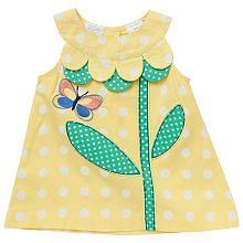 Koala Baby Girls' Yellow Polka Dot Flower Tunic Tank