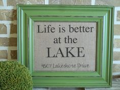Life is better at the LAKE  Personalized by SimplyFrenchMarket, $17.00