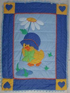 Handmade Baby Quilts, Little Yellow Daisy Duck - Handmade Quilt Baby, Baby Quilt Patterns, Baby Girl Quilts, Boy Quilts, Girls Quilts, Applique Patterns, Applique Quilts, Handgemachtes Baby, Baby Set