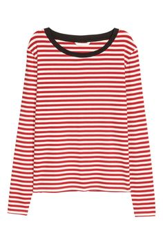 Gestreepte tricot top - Rood - DAMES | H&M NL 2