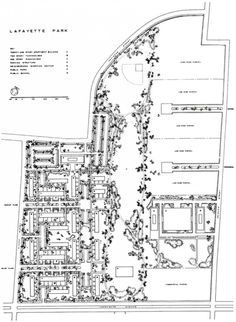 AD Classics: Lafayette Park / Mies van der Rohe | ArchDaily Architecture Drawings, Architecture Details, Modern Architecture, Seagram Building, Detroit Usa, Ludwig Mies Van Der Rohe, Social Housing, Lafayette Park, Urban Planning