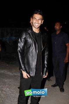 Ranveer Singh at the Promotion of Hindi movie 'Bajirao Mastani' at Chandan Cinema in Juhu, Mumbai