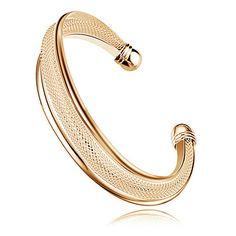 Bracelet manchette maille dorée - Bracelet - 3am