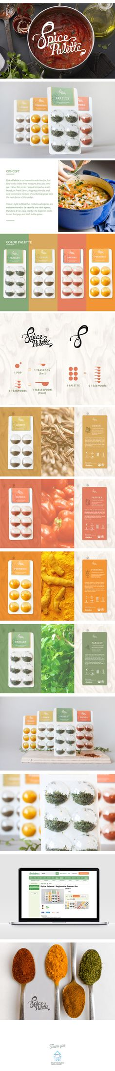 Spice kit packaging which seals the spices into six different air-tight bubbles, keeping the spice fresh and ready-to-use.  Each bubbles contain one teaspoon of spices, which keeps away from the customers to use measuring spoons.