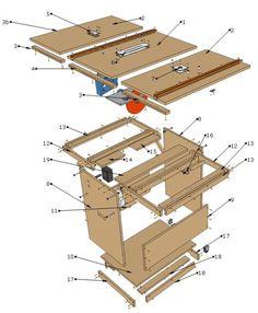 Risultati immagini per planos workshop portable pdf Woodworking Power Tools, Woodworking Workshop, Woodworking Projects Diy, Wood Projects, Woodworking Plans, Wood Tools, Diy Tools, Plans D'atelier, Scie Diy