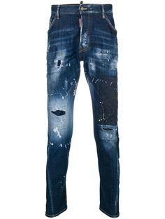 DSQUARED 2 Hommes Noir Slim Fit 100/% Coton Sweat Jeans