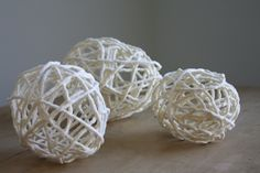 Recycled yarn eggs