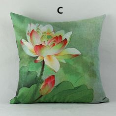 Lotus pillow Chinese style flower decorative pillows for home decoration