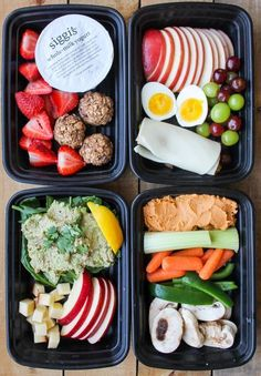 These 4 Healthy Snack Box Ideas are easy and healthy snack recipes to make ahead of time for easy grab and go snacks! Let's talk about healthy eating downfalls. For me, my biggest downfall when I'm trying to eat clean is the snack cabinet at work! The onl Snack Boxes Healthy, Healthy Meal Prep, Healthy Dinner Recipes, Diet Recipes, Snack Recipes, Healthy Eating, Dessert Recipes, Fitness Meal Prep, Healthy Packed Lunches