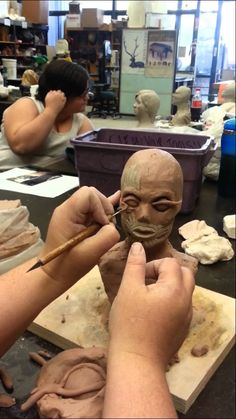 Techniques for sculpting eyes in clay