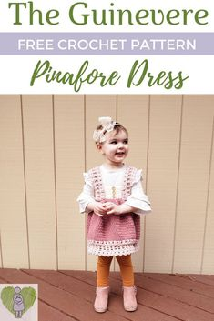 Fashion Quotes Read more to get the FREE Guinevere Pinafore Dress Crochet Pattern! Sizes 12 months to Girls size Toddler Crochet Patterns Quick Crochet, Crochet For Kids, Free Crochet, Crochet Children, Crochet Blanket Patterns, Baby Patterns, Dress Patterns, Clothing Patterns, Crochet Stitches
