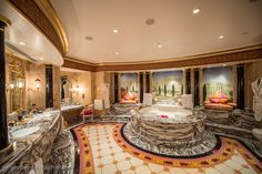 Burj Al Arab Shows Off Its Ultra Luxurious Bathrooms - Luxury Trump Luxury Homes Interior, Best Interior, Bathroom Styling, Bathroom Interior Design, Palaces, Abu Dhabi, Laundry Room Bathroom, Laundry Rooms, Bathroom Ideas