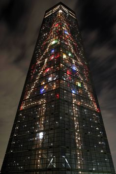 Christmas in Chiba Port Tower in Chiba, Japan
