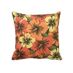 Epic Hibiscus Hawaiian Decorative Pillows, Hawaiian pillows