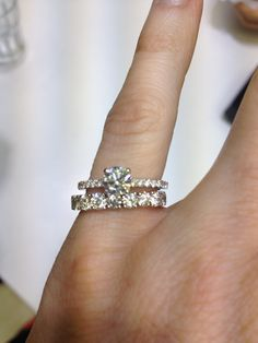 I Am Having A Hard Time Deciding What Wedding Band Want With My Engagement Ring Is Very Thin And Cannot Decide If Single Thick