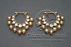 Tiraa by Tibarumal Jewels Indian Jewelry Earrings, Indian Wedding Jewelry, India Jewelry, Bridal Jewelry, Jhumki Earrings, Gold Jewellery, Gold Earrings, Drop Earrings, Jewelry Closet