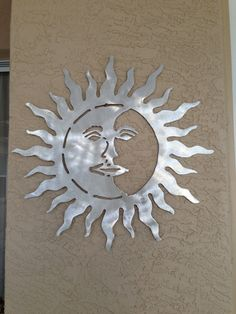 Sun metal wall hanging for indoor or outdoor by ScreenDoorGrilles, $30.00