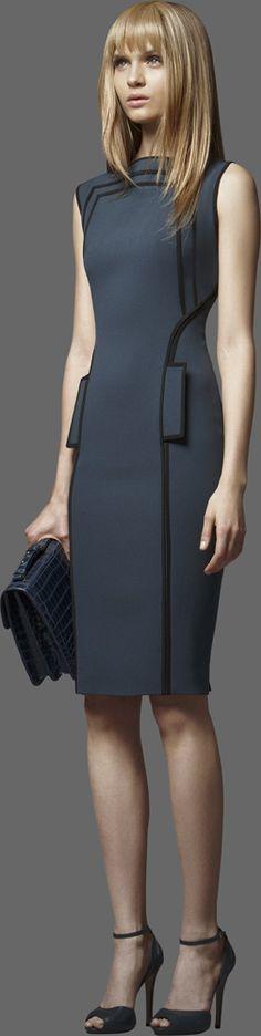 Elie Saab Pre-Fall #vestido #tubinho #debrum #cinza #bolsa