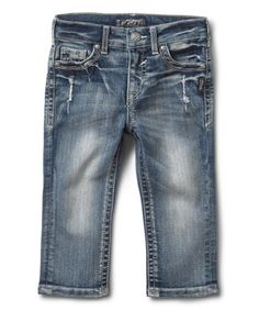 Another great find on #zulily! Medium Wash Ali Distressed Skinny Capri Jeans - Toddler #zulilyfinds