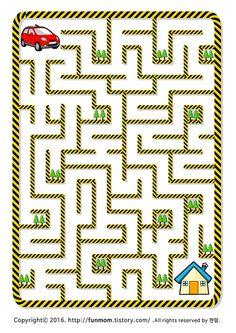 Maze Games For Kids, Fun Activities For Kids, Book Activities, Preschool Activities, Mazes For Kids Printable, Body Preschool, Maze Worksheet, Kindergarten Colors, Learn Thai