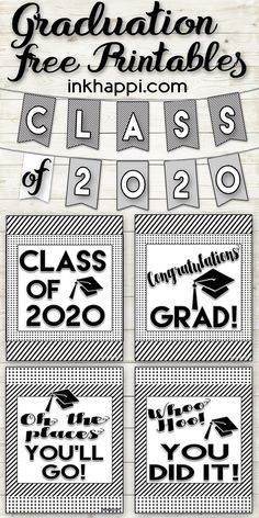 Graduation Printables and Encouraging Thoughts for the Grad! Graduation Printables to help celebrate the special occasion Graduation Party Themes, Graduation Banner, Kindergarten Graduation, Grad Parties, Graduation Gifts, Graduation Ideas, College Graduation, Graduation Templates, Ideas