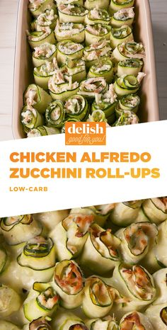 Have Fun In The Kitchen With Chicken Alfredo Zucchini Roll-UpsDelish