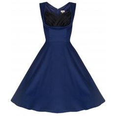 'Ophelia' Vintage Inspired 1950's Midnight Blue Prom Swing Dress