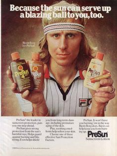 Bjorn Borg PreSun Ad 1980s