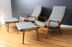 Pair of Milo Baughman Lounge Chairs #Chair