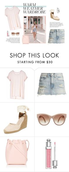 """""""heat wave"""" by restylingbloggers ❤ liked on Polyvore featuring Paychi Guh, Castañer, STELLA McCARTNEY, Mansur Gavriel and Christian Dior"""