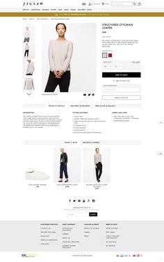 Jigsaw PDP Fashion Web Design, Ecommerce Web Design, Web Inspiration, Girl House, Fabric, How To Wear, Women, Design Web, Tejido