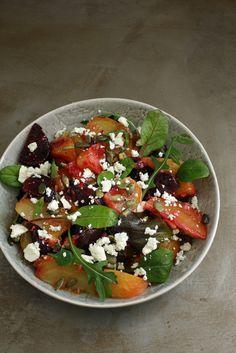 Roasted beet salad with feta