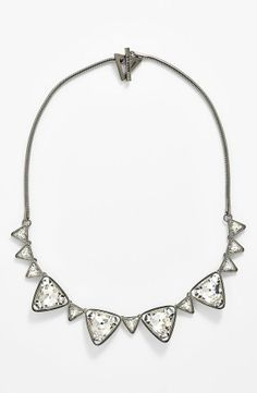 Fit for a princess - Sparkly triangle crystal necklace