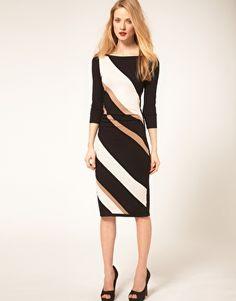 Enlarge Coast Knit Color Block Dress
