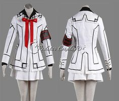 Vampire Knight Cosplay Costume Yuki Cross White or Black in any size  49.00