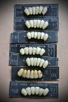 Vintage teeth on cards. £23.00, via Etsy.