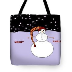 Tote Bag of 'Merry Christmas' by Sumi e Master Linda Velasquez. All Apparel on Shop at top of site.